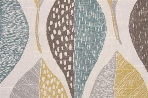 drapery fabrics robert allen woodblock leaf printed cotton drapery fabric