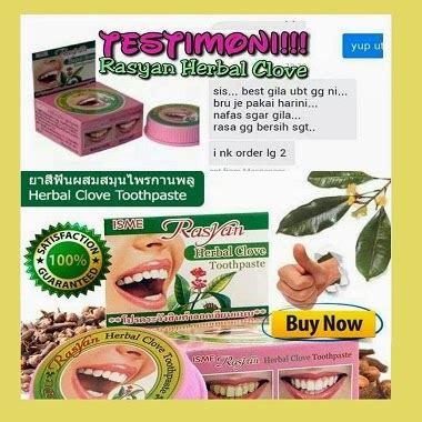 Pemutih Gigi Rasyan rasyan herbal clove toothpaste serbuk pemutih gigi