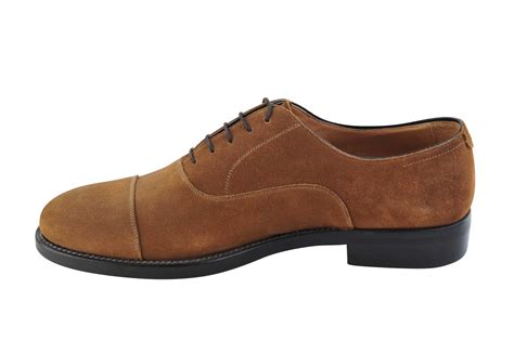 Scottish Footwear Mandarina Trading by Saxone Of Scotland Shoes Suede 43 Lace Up Brown
