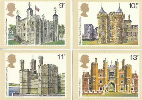 Where To Use Post Office Gift Card - collectable cards u k post office set of 4 british architecture postcards 1978