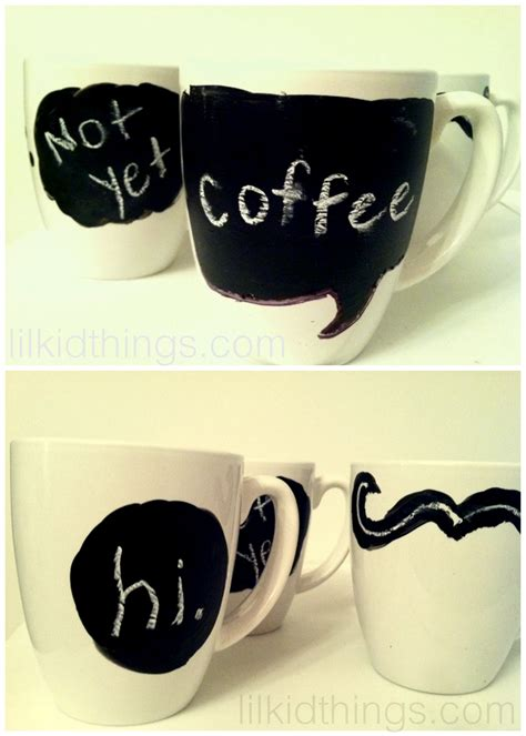 chalkboard paint mugs with chalkboard paint just is a four letter word