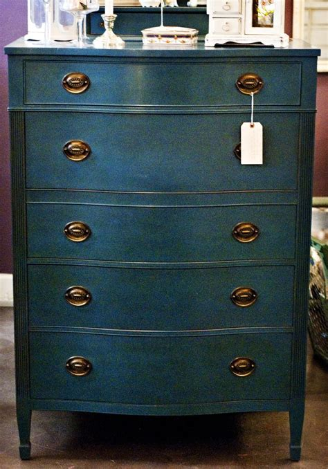 blue painted furniture beautiful vintage dresser painted with chalk paint