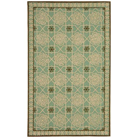teal area rug home depot safavieh newport teal ivory 3 ft 9 in x 5 ft 9 in area rug npt423b 4 the home depot