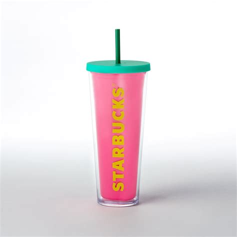 Starbucks Tumbler Stainless Steel Pink Cold Cup Summer Edition 2017 cold cup tumbler pink 24 fl oz starbucks 174 store