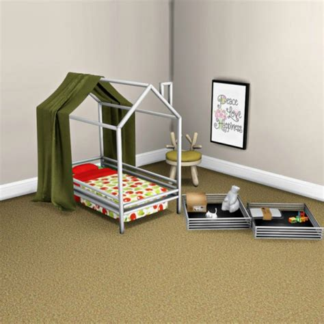 toddler bed with canopy leo 4 sims toddler bed and canopy sims 4 downloads