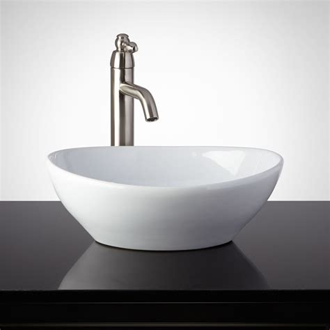 bathrooms with vessel sinks cedrela porcelain vessel sink bathroom