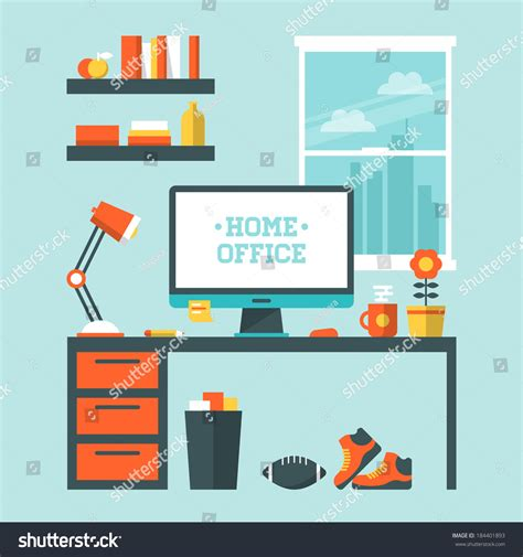 room design website free flat design vector illustration modern home stock vector