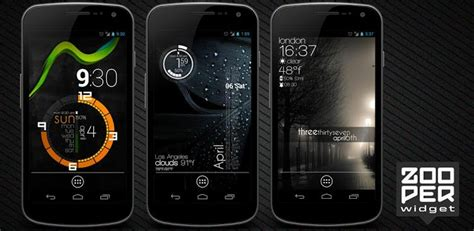 zooper widget templates zooper widget pro 2 26 android themes