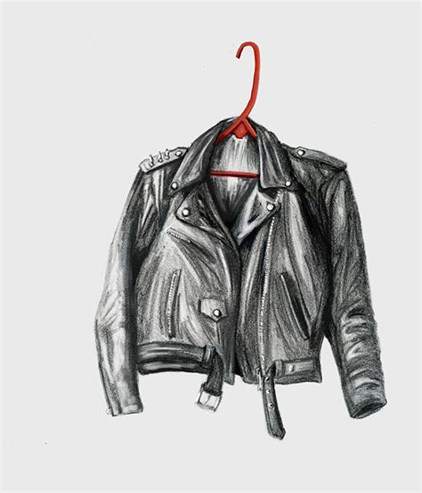 fashion illustration leather leather jacket on artcenter gallery