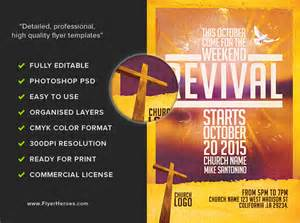 church flyer templates church revival flyer template flyerheroes