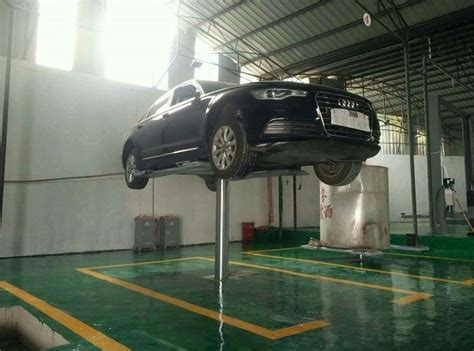 In Ground Garage Lift by In Ground 1 Post Hydraulic Garage Car Lift 3 2t Capacity