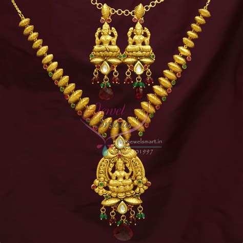 Handcrafted Gold Jewellery - temple jewellery handmade gold antique imitation jewellery
