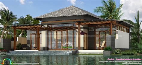 Resort House Plans by Luxury Small Home Plan 1303 Sq Ft Kerala Home Design And