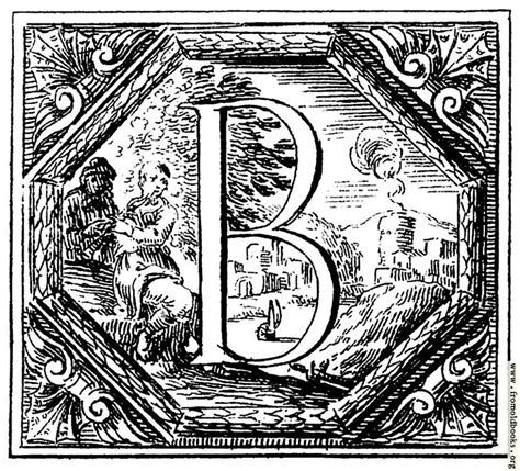 the letter b decorated historiated initial letter b by valerio spada 1656