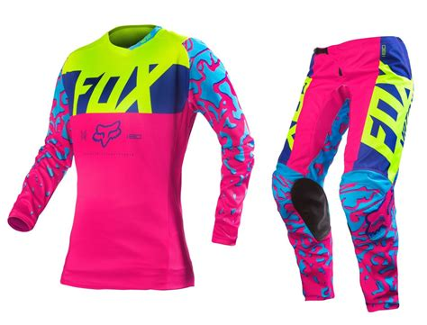 womens fox motocross gear fox racing 2016 mx 180 pink yellow motocross
