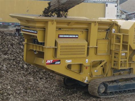 jht jaw crusher portable concrete  rock crusher screen machine industries