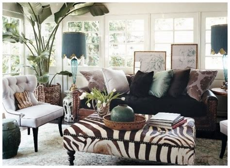 zebra print living room obsessing over zebra ottomans nomad luxuries