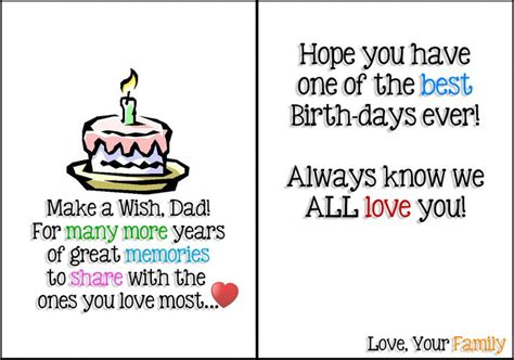 Printable Birthday Cards Father | start your trial of free birthday printable cards for