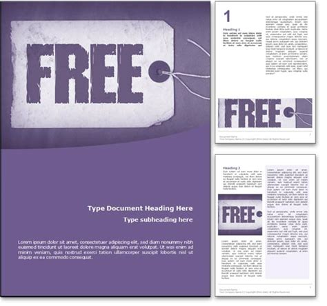 royalty free free microsoft word template in purple