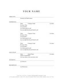 exles of resumes simple resume sle without