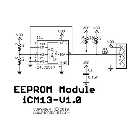 eeprom circuit diagram icm13 eeprom module