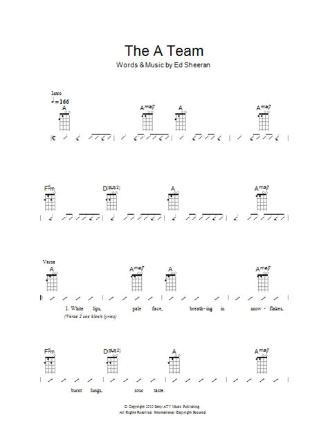 ukulele tutorial a team the a team sheet music direct