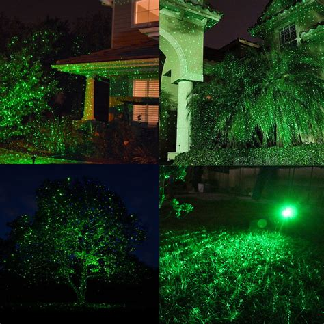 Green Garden Laser Light Projector Led Lighting Outside And Green Outdoor Lights