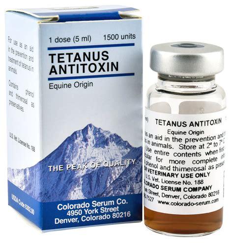 Serum Anti Tetanus tetanus antitoxin by colorado serum jeffers pet