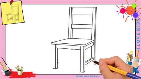 dessin chaise comment dessiner une chaise facilement