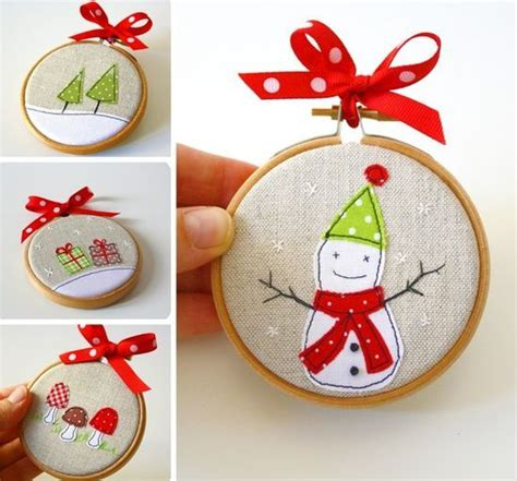 embroidery hoop ornament christmas pinterest