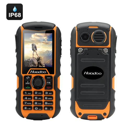 rugged cell huadoo h1 ip68 rugged cell phone yellow high5gadgets