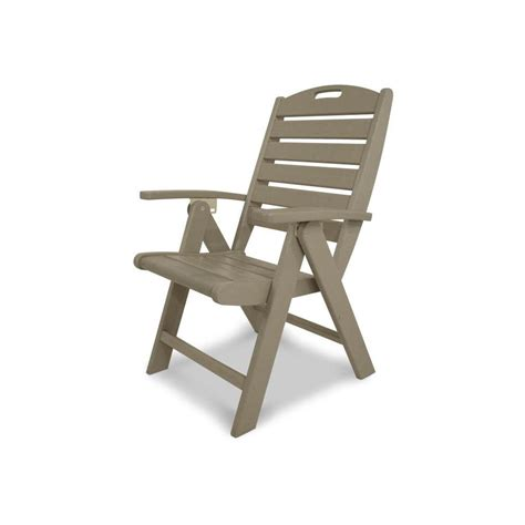Plastic Outdoor Dining Chairs by Shop Trex Outdoor Furniture Yacht Club Sand Castle Slat