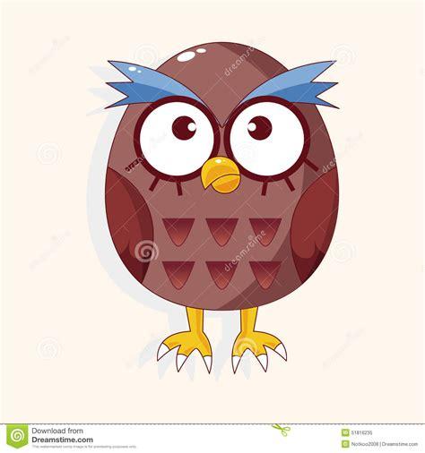 cartoon themes vector bird owl cartoon theme elements vector eps stock vector