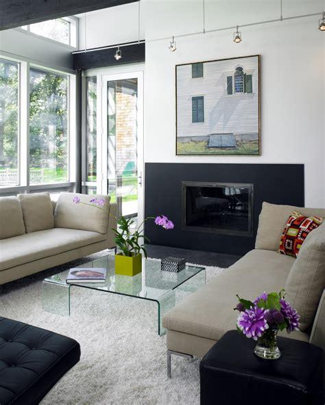 black sofa contemporary living room lda architects new england contemporary lda architecture and interiors