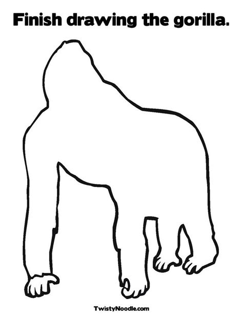 goodnight gorilla coloring page free coloring pages of good night gorilla