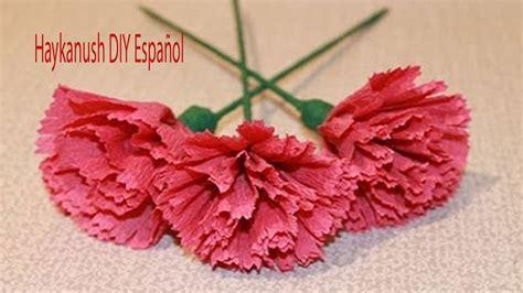 Como Hacer Flores De Papel Crepe Faciles Y Bonitas Youtube | como hacer flores de papel cr 234 pe f 225 ciles y bonitas para el