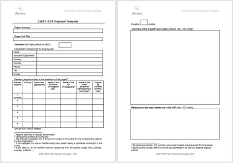 Funding Project Template 15 Free Funding Project Templates Printable