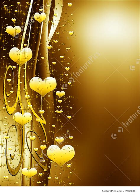 Building Plan Software holidays elegant golden background with hearts and stars