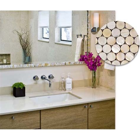 pearl tiles bathroom penny round mother of pearl kitchen backsplash