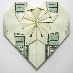 Step By Step Money Origami - fold a money origami from a dollar bill step by