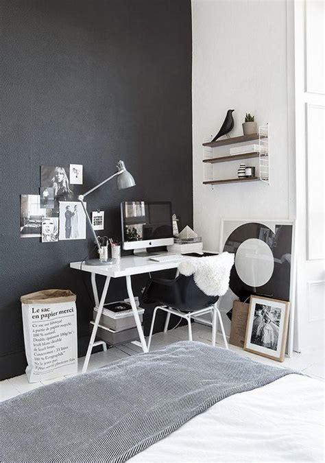 black and white home design inspiration werkkamer inrichten inspiratie werkplek idee 235 n