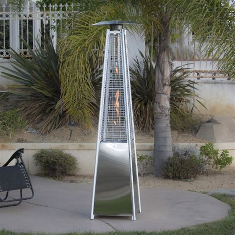 The Real Flame Pyramid Patio Heater Stainless Steel Or Real Pyramid Patio Heater