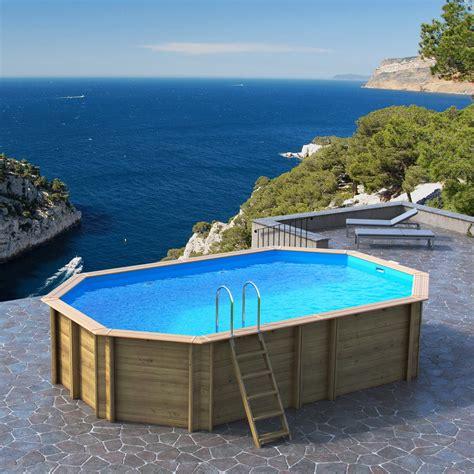terrassenüberdachung 6 x 4 m piscine hors sol bois odyssea proswell by procopi l 6 4 x