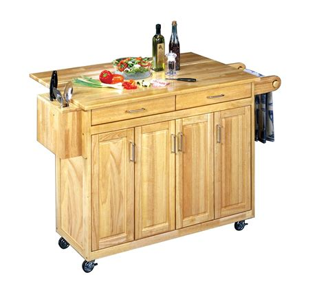 Wood Top Kitchen Cart by Home Styles Wood Top Kitchen Cart With Breakfast Bar By Oj