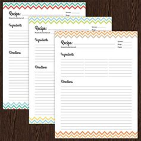 fillable and printable index cards free printable recipe organizers by eliza ellis including