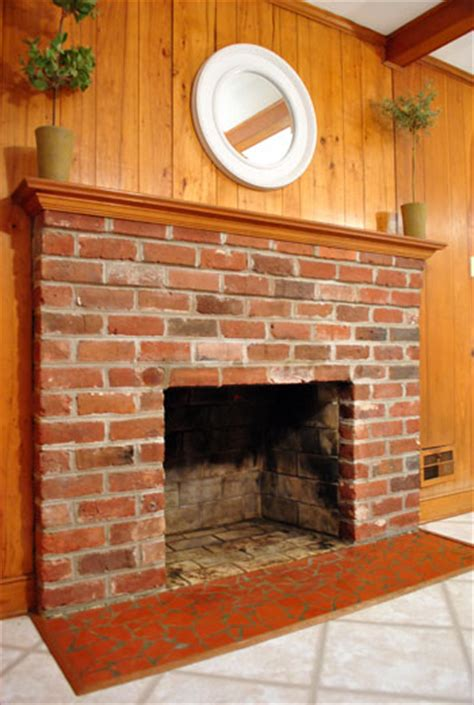 How To Lay Brick Fireplace by The Beginning Of A Fireplace Makeover Removing A