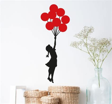 banksy wall stickers uk banksy with balloons wall sticker tenstickers