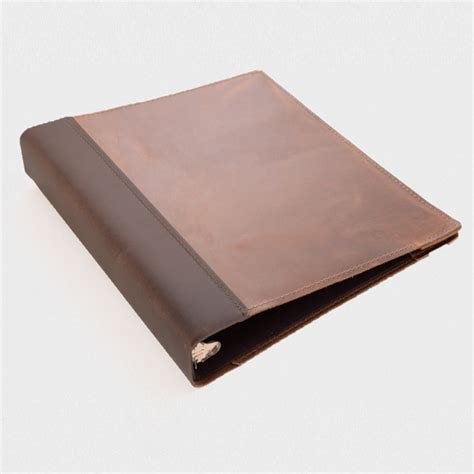 Home Goods Vases Leather Three Ring Binder Cover Rustico Leather