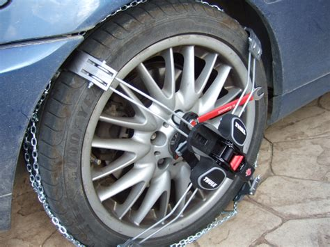 bmw snow chains review test thule k summit low profile snow chains