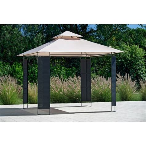 Rattan Pavillon by Buy Rattan Effect Square Garden Gazebo At Argos Co Uk
